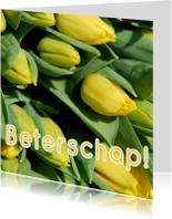 Fotokaart beterschap tulpen