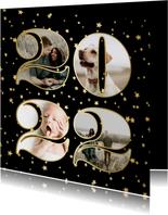 Fotokaart fotocollage 2022 sterren goud
