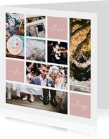 Fotokaart fotocollage 'Always'