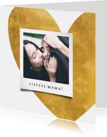 Fotokaart gouden hart met foto