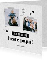 Fotokaart jij bent de beste papa grafisch