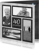 fotokaart jubileum grijs hout