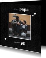 Fotokaart liefste PAPA grafisch donker
