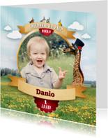 Kinderfeestjes - Fotokaart - Magical Circus - Giraffe