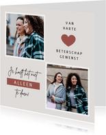 Fotokaart persoonlijke foto vriendschap ik denk aan je