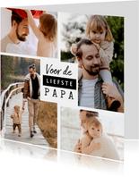 Fotokaart vaderdag voor de liefste papa