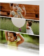 Fotokaart vierkant 3 foto's collage