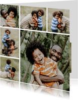 Fotokaart vierkant met collage van 6 foto's