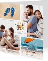 Fotokaart zonvakantie zon fotocollage hartjes