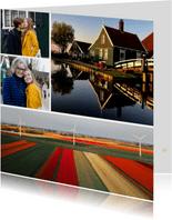 Fotokarte grafisch vier Fotos