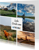 Fotokarte Liebe Grüße von Texel