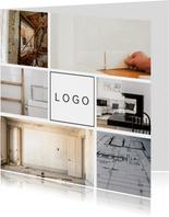 Fotokarte mit Platz für ein Logo
