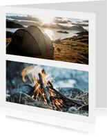 Fotokarte quadratisch zwei Fotos