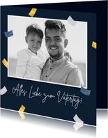 Fotokarte Vatertag Konfetti