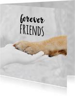 Freundschaftskarte Hundepfote