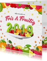 Fris en fruitig 2019 nieuwjaarskaart
