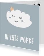 Fryske kaartsjes - Fryske felicitatiekaart geboorte wolk