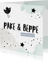 Fryske felicitatiekaart Pake en Beppe
