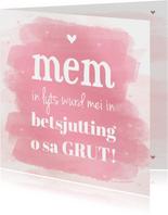 Fryske kaart foar de alderleafste mem