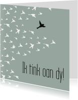 Fryske kaart vogels 'Ik tink aan dy!'