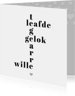Fryske kaart voor je allerliefste liefde - valentijnskaart