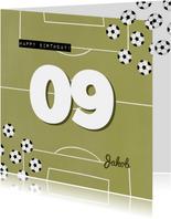Fußball Geburtstagskarte