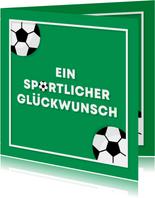 Fußball Glückwunschkarte