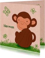 Geboorte aapje papierprint - HR