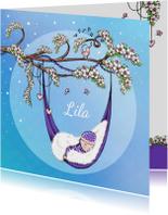 Geboorte bloesem lente lila - IH