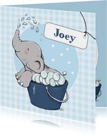 Geboorte bubbelbad olifant - IH