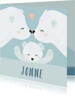 Geboorte felicitatie kaartje met getekende ijsberen