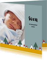Geboorte jongen bos thema 2E