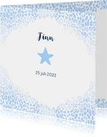 Geboorte jongen ster luipaardprint