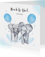 Geboorte jongetjes olifantjes