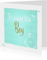 Geboorte lief baby kaartje boy