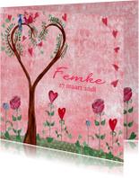 Geboorte Meisje boom hart Cartita Design