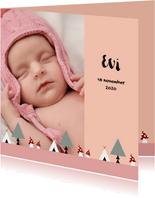 Geboorte meisje bos thema 2E