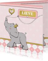 Geboorte meisje olifant goud-IH