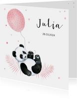 Geboorte meisje pandabeertje ballonnetje