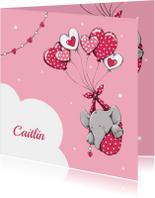 Geboorte olifant hart ballon -IH