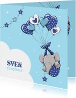 Geboorte olifant hartballon - IH