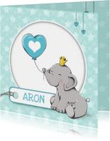 Geboortekaartjes - Geboorte olifant kroon - IH