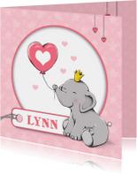 Geboorte olifant label - IH