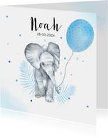 Geboorte olifantje ballon
