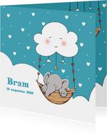 Geboorte olifantje wolk Bram IH
