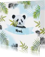 Geboorte pandabeertje aquarel