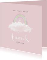 Geboorte regenboogje wolkje