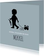 Geboorte silhouet mikkel - B