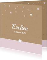 Geboorte-Sterren, karton, meisje