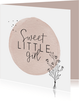 Geboorte Sweet little girl simplistisch en lief